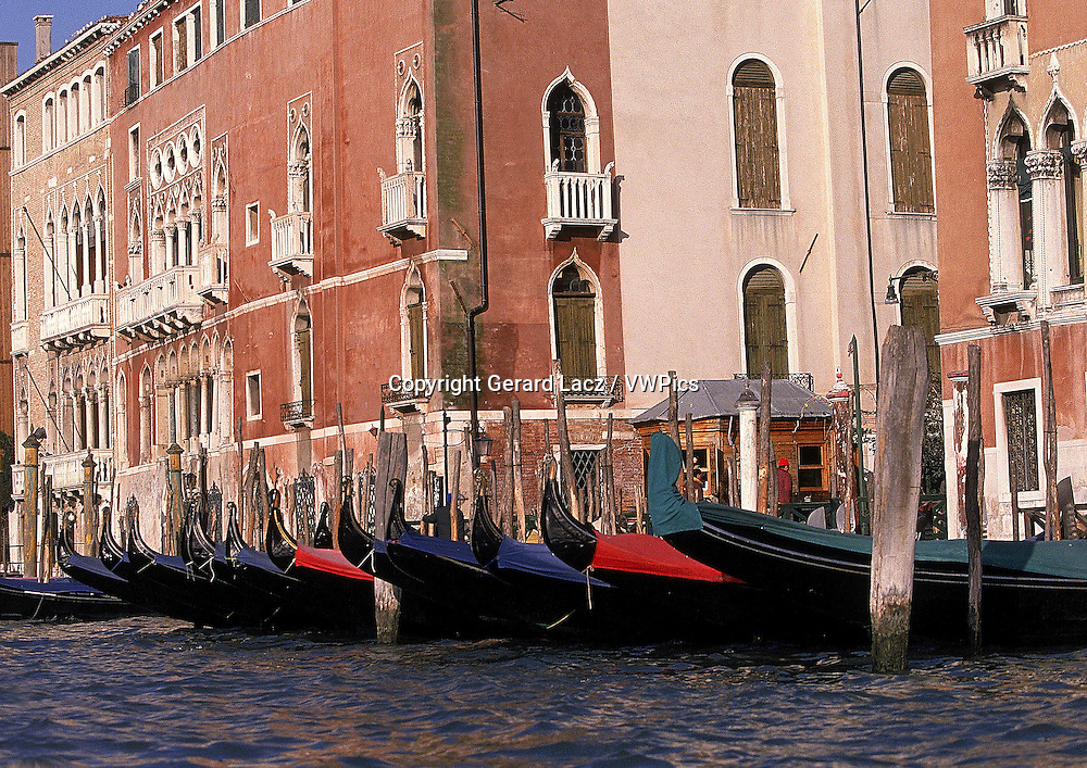 PALACES AND GONDOLA ON THE GRAND CANAL, VENICE