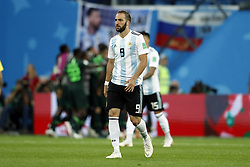 Gonzalo Higuain of Argentina during the 2018 FIFA World Cup Russia group  D match between Nigeria and Argentina at the Saint Petersburg Stadium on June 26, 2018 in Saint Petersburg, Russia