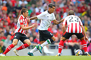 Roberto Firminio of Liverpool and Ager Aketxe of Athletic Bilbao during the Pre-season Friendly match at the Aviva Stadium, Dublin<br /> Picture by Yannis Halas/Focus Images Ltd +353 8725 82019<br /> 05/08/2017