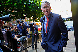 © Licensed to London News Pictures. 13/05/2015. LONDON, UK. Hilary Benn attending Labour's National Executive Committee meeting to finalise leadership election arrangements at The Labour Party London Office on Wednesday, 13 May 2015. Photo credit : Tolga Akmen/LNP