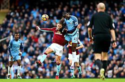 Yaya Toure of Manchester City challenges Jeff Hendrick of Burnley - Mandatory by-line: Matt McNulty/JMP - 02/01/2017 - FOOTBALL - Etihad Stadium - Manchester, England - Manchester City v Burnley - Premier League