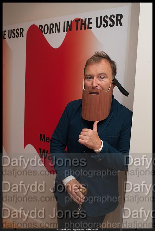 TONY CHAMBERS; , Born in the USSR, Design exhibition opening. Gallery Elena Shchukina, Beauchamp Place, Knightsbridge. London. 15 September 2014.