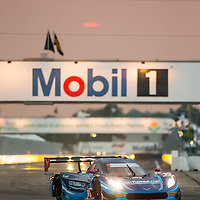 Sebring, FL - Mar 19, 2015:  The Spirit of Daytona Corvette DP Prototype races through the turns at 12 Hours of Sebring at Sebring Raceway in Sebring, FL.