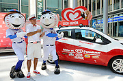 "Unveiling of The Good Humor Joy Squad and launch of the Good Humor Welcome to Joyhood campaign,Thursday, June 25, 2015, in New York.  Follow @GoodHumor on Twitter as the Joy Squad travels to other cities this summer."" (Diane Bondareff/AP Images for Good Humor)"