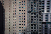 Brick apartment buildings in Manhattan, New York City.