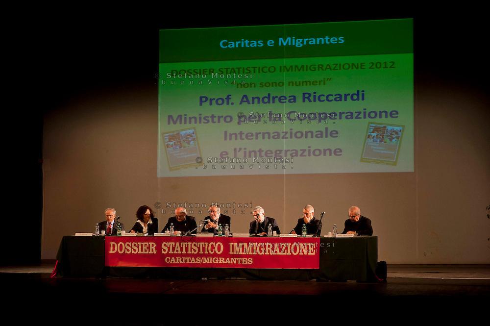 Roma 26 Ottobre 2010..Presentato il XXII Rapporto sull'immigrazione della Caritas e della Fondazione Migrantes con Andrea Riccardi Ministro per la cooperazione internazionale e l'integrazione