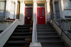 UK ENGLAND LONDON 18NOV11 - House entrances in Bravington Road in Maida Vale in west London...jre/Photo by Jiri Rezac....© Jiri Rezac 2011