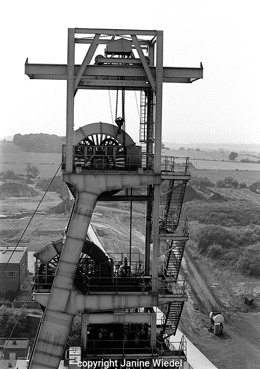 The Pithead ead mine shaft Florence Colliery Stoke on Trent  Staffordshire. 1970's