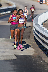 Boston Athletic Association Half Marathon, Betsy Saina leads Daska, Limo