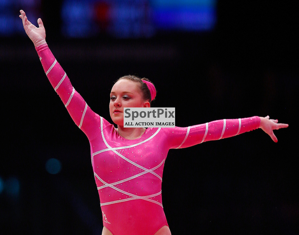 2015 Artistic Gymnastics World Championships being held in Glasgow from 23rd October to 1st November 2015.....Amy Tinkler (Great Britain) performs in the Floor Exercise in the Women's All-Round Final...(c) STEPHEN LAWSON   SportPix.org.uk