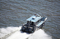 Aerial view of the Philadelphia Marine Police along the delaware river outside philadelphia