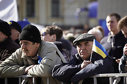 March 29, 2019 - Kiev, Ukraine - People are awaiting presidential candidate Yulia Tymoshenko during an election rally in Kyiv, Ukraine on March 29, 2019. (Credit Image: © Jaap Arriens/NurPhoto via ZUMA Press)
