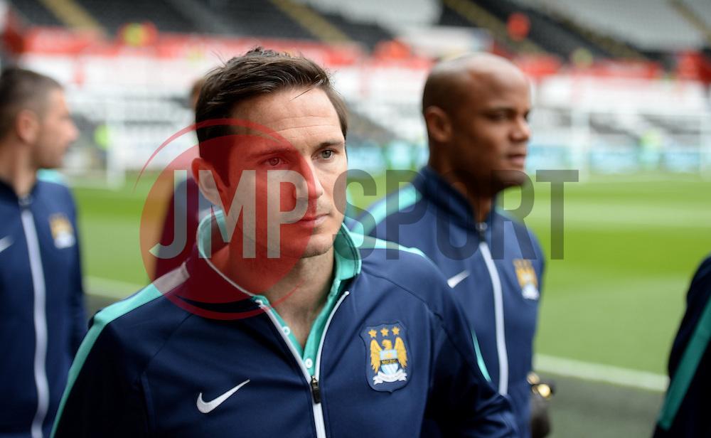 Manchester City's Frank Lampard arrives at the Liberty stadium. - Photo mandatory by-line: Alex James/JMP - Mobile: 07966 386802 - 17/05/2015 - SPORT - Football - Swansea - The Liberty stadium - Swansea City v Manchester City - Barclays premier league