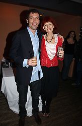 TOM SYKES and his mother VALERIE GOAD at a party to celebrate the publication of Tom Sykes's book 'What Did I Do Last Night?' held at Centuary, Shaftesbury Avenue, London on 16th January 2007.<br /><br />NON EXCLUSIVE - WORLD RIGHTS