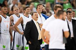 Tone Krump during basketball event Kosarkaska simfonija - last offical basketball match of Bostjan Nachbar and Sani Becirovic, on August 30, 2018 in Arena Stozice, Ljubljana, Slovenia. Photo by Urban Urbanc / Sportida