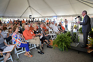 DASNR Teaching Greenhouses and learning center ceremony with donors from Greenleaf Nurseries and other special guest. The architect rendering was unveiled.