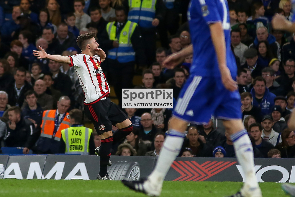 FABIO BORINI celebrates During Chelsea vs Sunderland on Saturday the 19th December 2015.