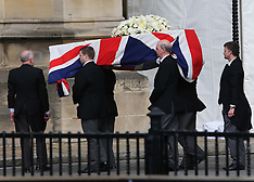 APR 16 2013 Baroness Thatcher's coffin arrives at Palace of Westminster