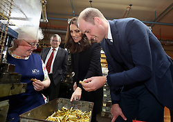 The Duke and Duchess of Cambridge visit Acme Whistles in Birmingham, UK, on the 22nd November 2017. Picture by Chris Jackson/WPA-Pool. 22 Nov 2017 Pictured: Catherine, Duchess of Cambridge, Kate Middleton, Prince William, Duke of Cambridge. Photo credit: MEGA TheMegaAgency.com +1 888 505 6342