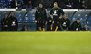 Leeds - Monday October 19th, 2009: Manager Paul Lambert of Norwich City and the bench react after Leeds score the winning goal during the Coca Cola League One match at Elland Road, Leeds. (Pic by Paul Thomas/Focus Images)..