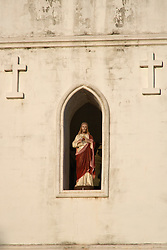 Statue of Christ in an alcove of the Beagle Bay Church 2008.