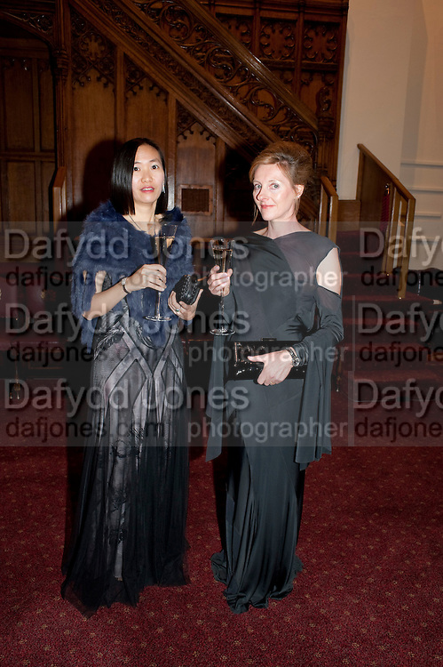 LEONA WONG; CATHERINE BROWN; , Man Booker prize 2011. Guildhall. London. 18 October 2011. <br /> <br />  , -DO NOT ARCHIVE-&copy; Copyright Photograph by Dafydd Jones. 248 Clapham Rd. London SW9 0PZ. Tel 0207 820 0771. www.dafjones.com.