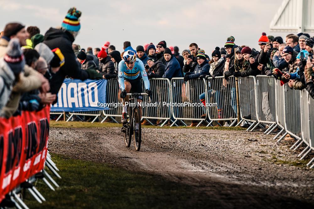 Wout van Aert on his way to 2nd place, 2019 Men Elite UCI Cyclo-cross World Championships at Bogense, Denmark, 3 Februari 2019. Photo by Pim Nijland / PelotonPhotos.com | All photos usage must carry mandatory copyright credit (Peloton Photos | Pim Nijland)