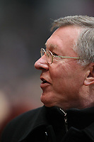 Photo: Rich Eaton.<br /> <br /> Aston Villa v Manchester United. The Barclays Premiership. 23/12/2006. Sir Alex Ferguson manager of Manchester United happy after his team win 3-0 away at Villa