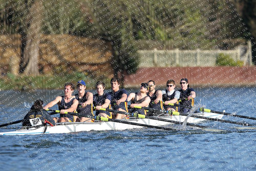 2012.02.25 Reading University Head 2012. The River Thames. Division 2. Southampton University Boat Club A IM2 8+