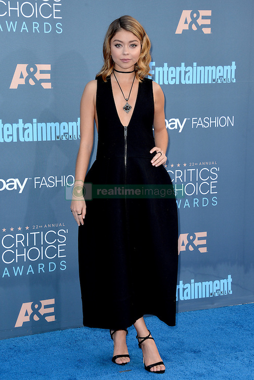 Sarah Hyland attends the 22nd Annual Critics' Choice Awards at Barker Hangar on December 11, 2016 in Santa Monica, Los Angeles, CA, USA. Photo By Lionel Hahn/ABACAPRESS.COM