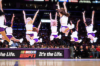 28 January 2007: The Laker Girls perform during a timeout as the Los Angeles Lakers play the San Antonio Spurs during the Spurs 96-94 victory over the Lakers at the STAPLES Center in Los Angeles, CA.