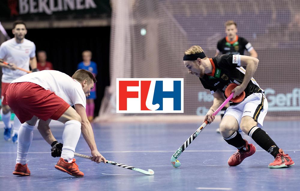 BERLIN - Indoor Hockey World Cup<br /> Men: Poland - Germany<br /> foto: Christopher R&uuml;hr.<br /> WORLDSPORTPICS COPYRIGHT FRANK UIJLENBROEK