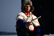 Nils Mathis N. Vars fishes on his lake, Lahpojaure, as he has all his 75 years, with traditional birch stick and fishing line.