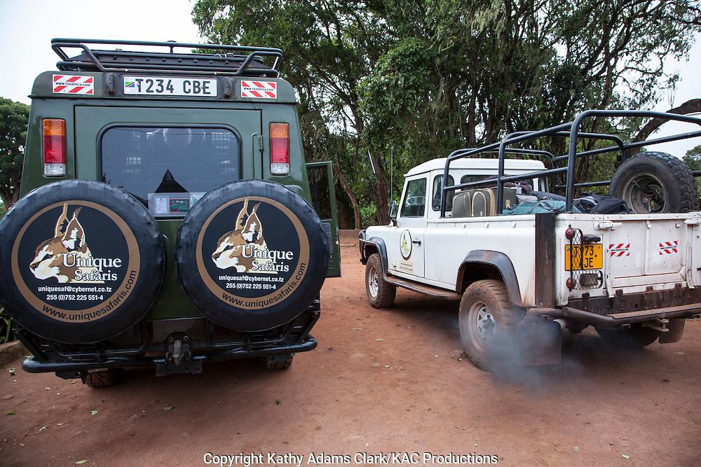 Unique Safari vehicle, Ngorongoro creater, Ngorongoro Conservation Area, Tanzania, Africa.