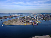 Nederland, Zuid-Holland, Rotterdam, 14-09-2019; Maasvlakte 2, Prinses Arianehaven met Sif Terminal Rotterdam (Tweede Maasvlakte, MV2). Links de Yangtzehave,<br /> Maasvlakte 2, Sif Terminal Rotterdam (Tweede Maasvlakte, MV2). Yangtzeharbour.<br /> luchtfoto (toeslag op standard tarieven);<br /> aerial photo (additional fee required);<br /> copyright foto/photo Siebe Swart