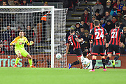 Goal - Kenny McLean (23) of Norwich City scores a goal to make the score 1-1 during the EFL Cup 4th round match between Bournemouth and Norwich City at the Vitality Stadium, Bournemouth, England on 30 October 2018.