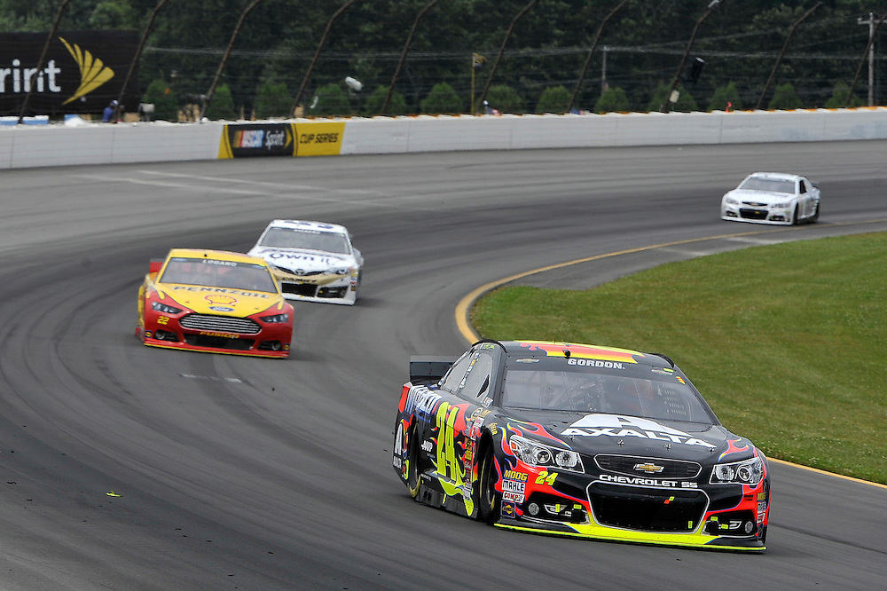 1-3 August, 2014, Long Pond, Pennsylvania USA<br /> Jeff Gordon, Joey Logano, Brian Vickers<br /> &copy;2014, Scott R LePage <br /> LAT Photo USA