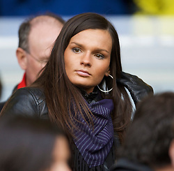 LIVERPOOL, ENGLAND - Saturday, November 22, 2008: Wife of Liverpool's Martin Skrtel takes her seat in the Director's Box as his side take on Fulham during the Premiership match at Anfield. (Photo by David Rawcliffe/Propaganda)