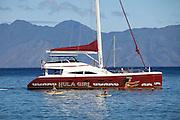 Maui, Ka'anapali Beach. Hula Girl catamaran.