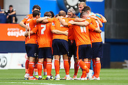 Luton Town players before the Pre Season Friendly match at Kenilworth Road, Luton<br /> Picture by David Horn/Focus Images Ltd +44 7545 970036<br /> 26/07/2014