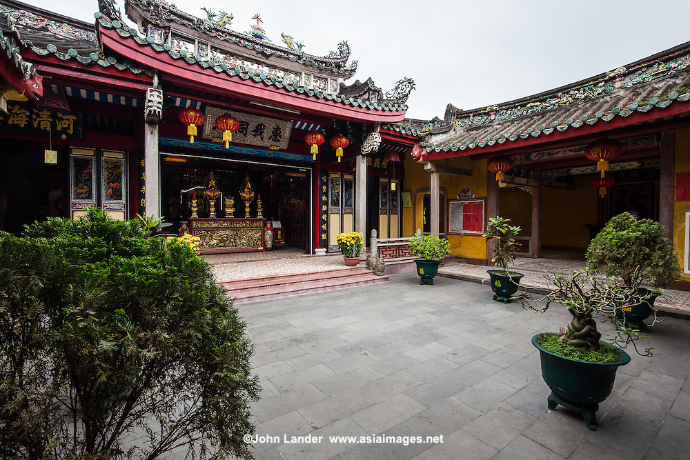 Trieu Chau  Assembly Hall was built by overseas  Chinese in Hoi An and is  dedicated to the God of Wind and Big Waves.<br /> In the past people went to the house at night to pray because they thought that all their wishes would come true. The most outstanding feature of the house are decorative designs, embossed patterns of porcelain and wood.