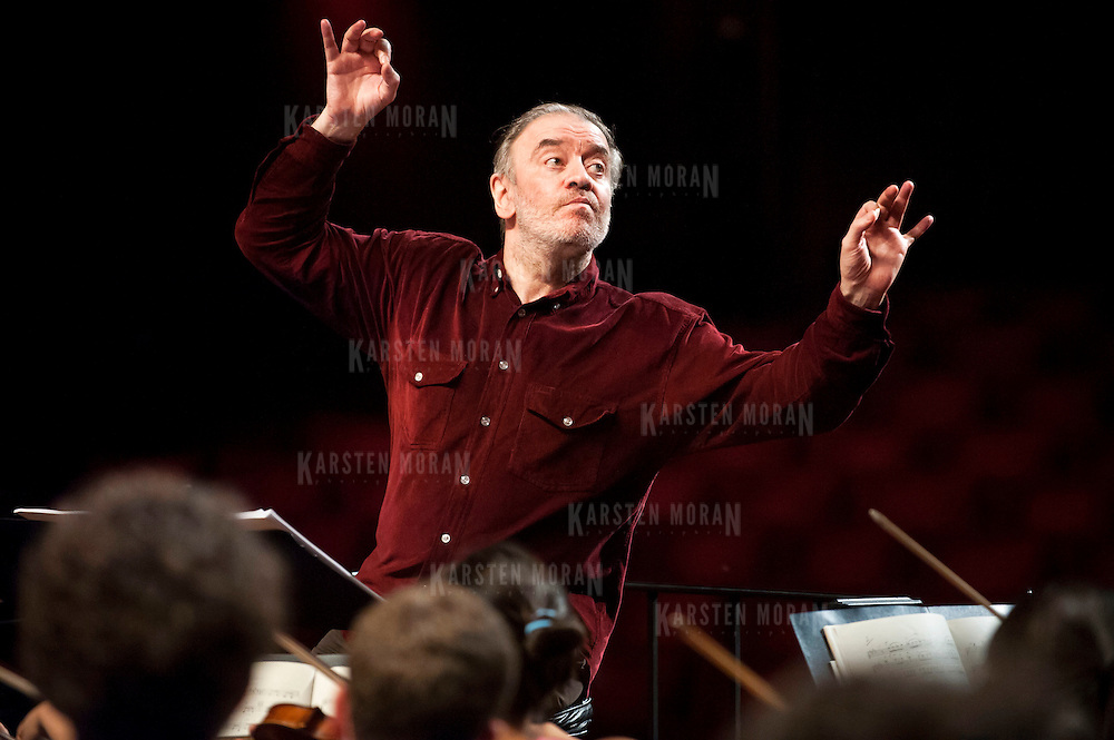 July 9, 2013 - Purchase, NY : Russian conductor Valery Gergiev leads the National Youth Orchestra of the United States of America in  rehearsal at SUNY Purchase's Performing Arts Center in Westchester on Tuesday afternoon. The Orchestra, a new project of Carnegie Hall's Weill Music Institute, is comprised of musicians aged 16-19, hand-picked from across the country. The program -- and orchestra -- will kick off its inaugural season with a performance at SUNY Purchase on Thursday evening, and then head off to perform in Washington DC,  Moscow, St. Petersburg, and London. CREDIT: Karsten Moran for The New York Times