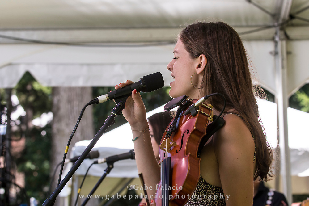 Michaela Anne performing on the Friends Field stage at the American Roots Music Festival at Caramoor in Katonah New York on June 24, 2017. <br /> (photo by Gabe Palacio)