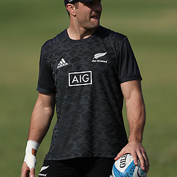 PRETORIA, SOUTH AFRICA - OCTOBER 05: Luke Whitelock during the Rugby Championship New Zealand All Blacks captain's run at St David's Marist Inanda 36 Rivonia Rd, Sandown, Sandton,on October 5, 2018 in Pretoria, South Africa. (Photo by Steve Haag/Getty Images)