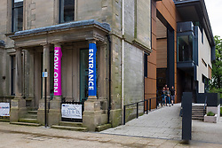 Dunfermline Carnegie Library & Galleries opened May 2017 in Dunfermline, Fife, Scotland, United Kingdom.