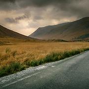 The road through the Glen, Glen Etive, Scotland.