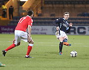 Dundee captain Kevin Thomson slides a pass - Dundee v Ross County, SPFL Premiership at Dens Park<br /> <br />  - &copy; David Young - www.davidyoungphoto.co.uk - email: davidyoungphoto@gmail.com