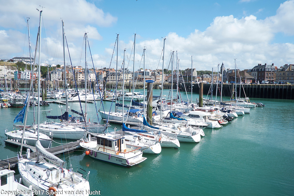 De haven van Dieppe, Normandië, Frankrijk - The port of Dieppe, Normandy, France