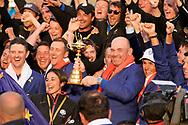 The European team celebrate winning<br /> <br /> Sunday singles Captain Thomas Bjorn<br /> Francesco Molinari&nbsp;<br /> Tommy Fleetwood&nbsp;<br /> Tyrrell Hatton&nbsp;&nbsp;&nbsp;&nbsp;&nbsp;&nbsp;&nbsp;&nbsp;&nbsp;&nbsp;&nbsp;&nbsp;&nbsp;&nbsp;&nbsp;&nbsp;&nbsp; <br /> Paul Casey&nbsp;&nbsp;&nbsp;&nbsp;&nbsp;&nbsp;&nbsp;&nbsp;&nbsp;&nbsp;&nbsp;&nbsp;&nbsp;&nbsp;&nbsp;&nbsp;&nbsp;&nbsp;&nbsp; <br /> Thorbjorn Olesen&nbsp;&nbsp;&nbsp;&nbsp;&nbsp;&nbsp;&nbsp;&nbsp;&nbsp;&nbsp;&nbsp;<br /> Rory McIlroy&nbsp;&nbsp;&nbsp;&nbsp;&nbsp;<br /> Jon Rahm&nbsp;&nbsp;&nbsp;&nbsp;&nbsp;&nbsp;&nbsp;&nbsp;&nbsp;&nbsp;&nbsp;&nbsp;&nbsp;&nbsp;&nbsp;&nbsp;&nbsp;&nbsp;&nbsp;&nbsp;&nbsp;&nbsp;&nbsp;&nbsp; <br /> Justin Rose&nbsp;&nbsp;&nbsp;<br /> Alex Noren<br /> Henrik Stenson<br /> Sergio Garc&iacute;a<br /> Ian Poulter