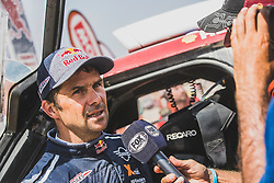 Cyril Despres (FRA) of X-raid Mini JCW Team at the finish line of the Rally Dakar 2019 in stage Pisco to Lima, Peru on January 17, 2019. // Flavien Duhamel/Red Bull Content Pool // AP-1Y5HCDBJW2111 // Usage for editorial use only // Please go to www.redbullcontentpool.com for further information. //